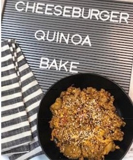 Cheeseburger Quinoa Bake