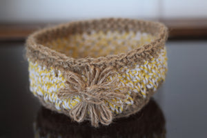 hand crocheted jewellery baskets