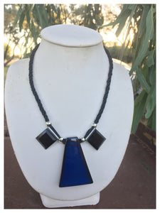 Acrylic triangle on kuihimino necklace