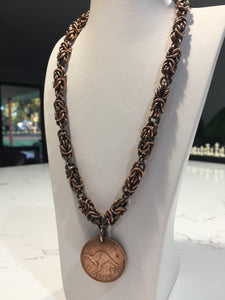 Copper Byzantine Weave necklace