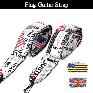 American & British Flag Guitar Straps