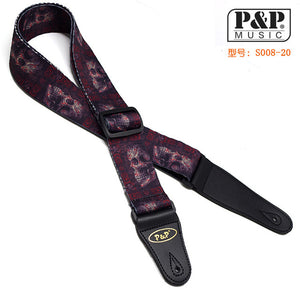 Soft Cotton Patterned 2' Adjustable Strap with Leather Ends