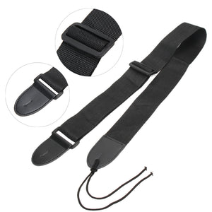 Black Nylon Adjustable Guitar Strap