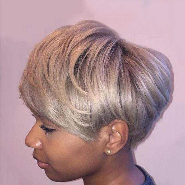 Luna 037 Classic Layered Short Straight Boycut Wig for Black Women