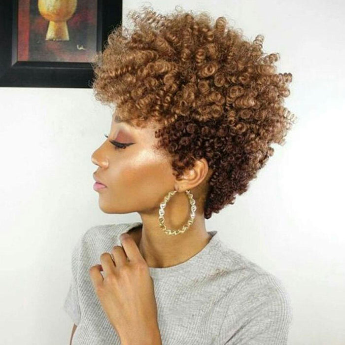 Luna 011 Sassy African American Short Spiral Curly Afro Wig for Women