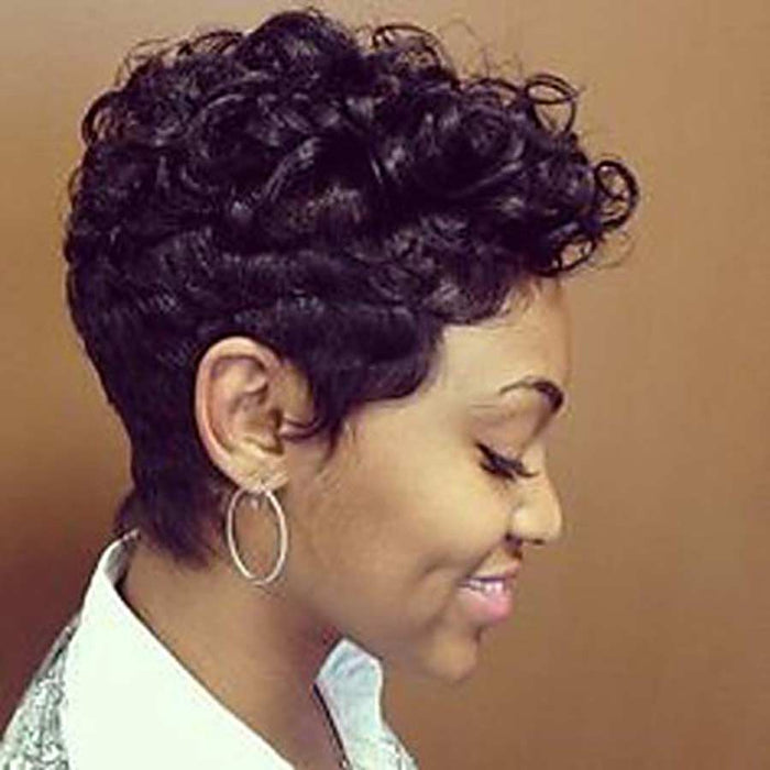 Luna A85 Sassy Short Curly Afro Hair Wig for African American Women