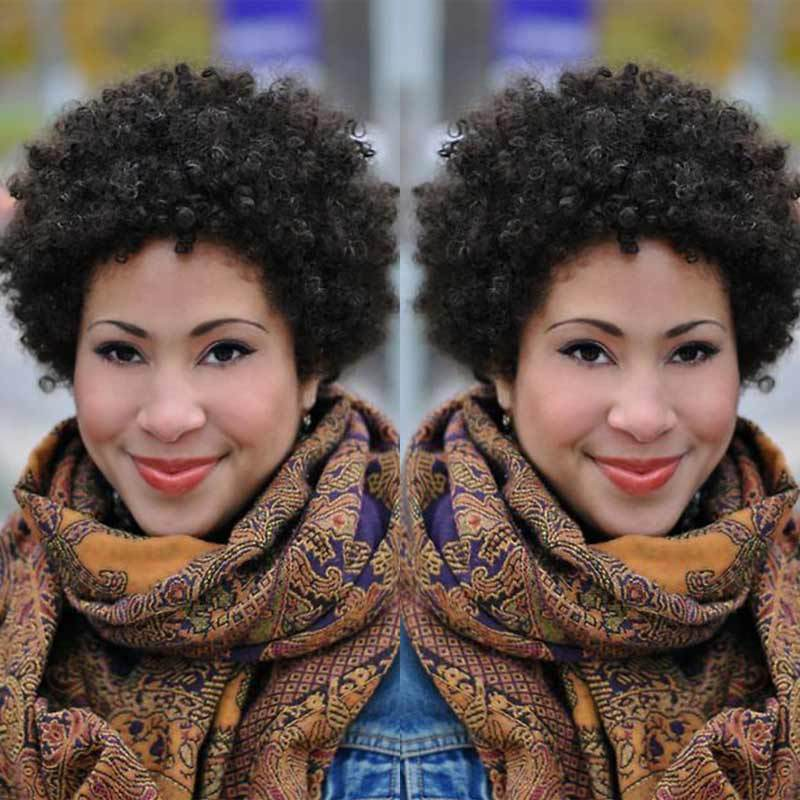 Luna Wig C27 Women Short Kinky Curly Bouncy for African American