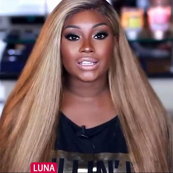 Luna N18 Lace Front Long Straight Wig for Black Women