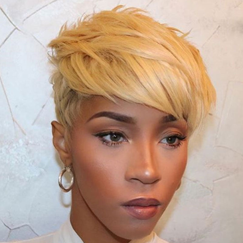 Luna Wig C34 Boycuts Short Straight Blonde Wig for Black Women