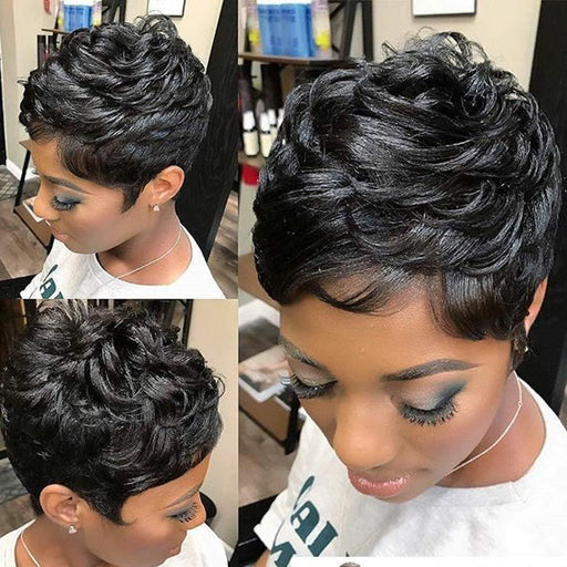 Luna Wig C06 Sassy Short Wavy Layered for Black Women