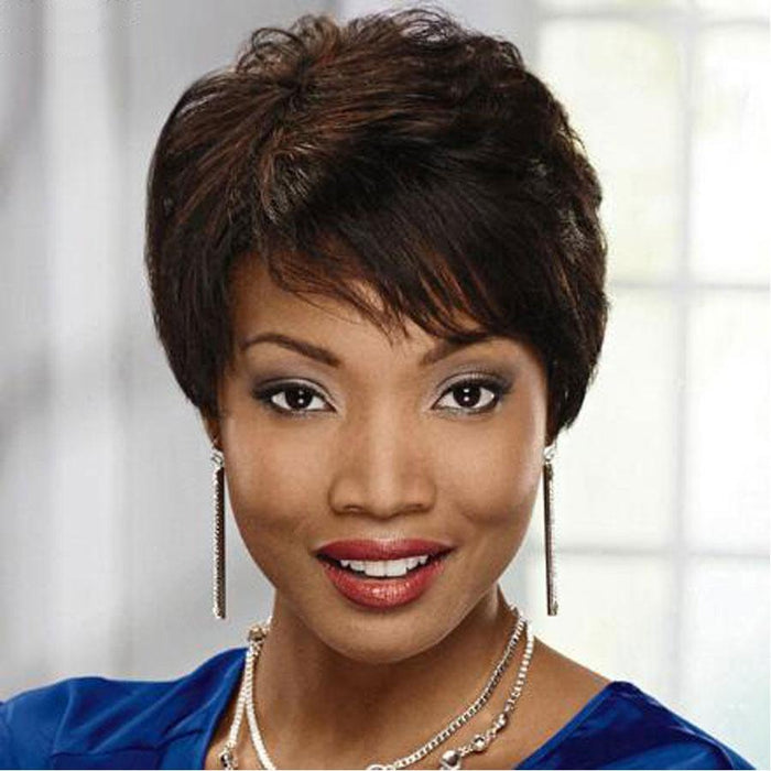 Luna 067 Pixie Short Straight Layered Hair Wig for Black Women