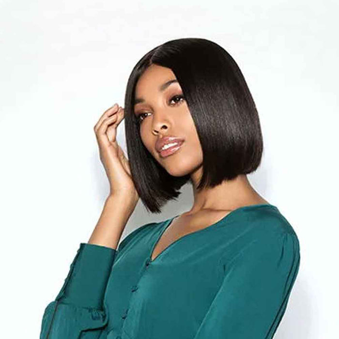 Luna 004 Feminine Straight Chin Length Bob Hair Wig for Black Women