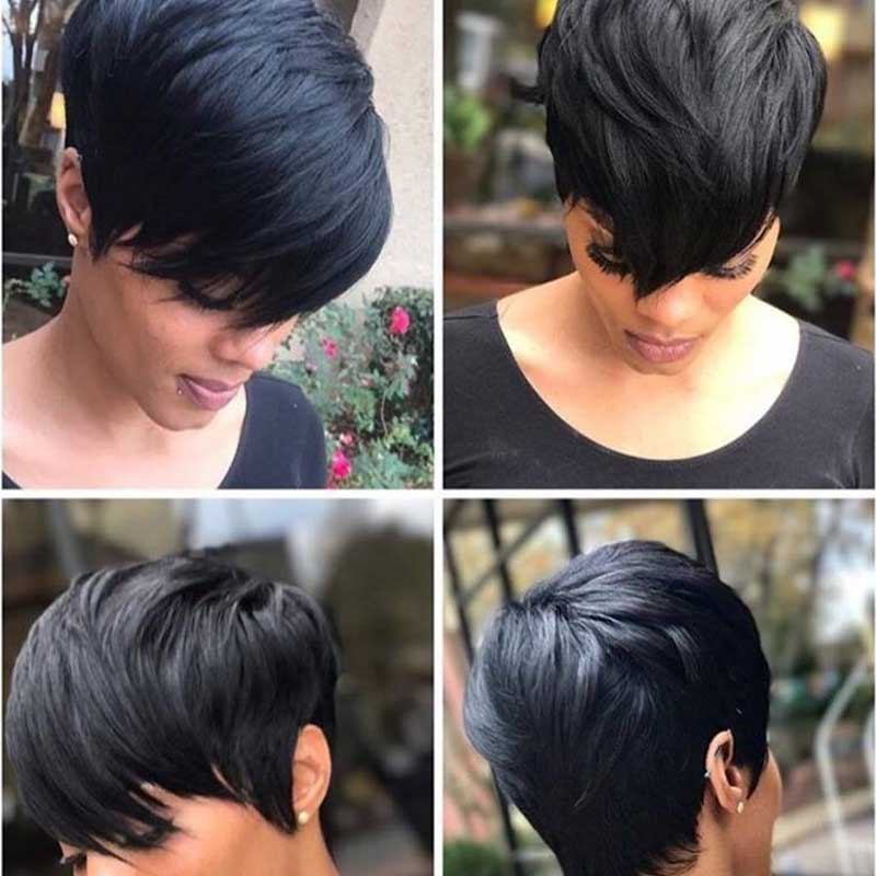 Luna Wig C02 Short Layered Straight for Black Women