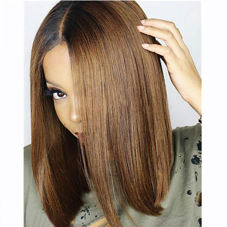 Luna L03 African American Shoulder Length Straight Bob Wig