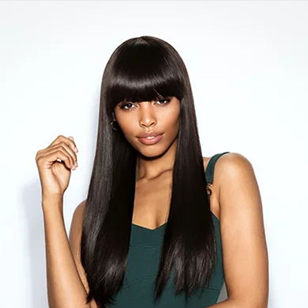 Luna 026 Afro American Long Straight Synthetic Wig With