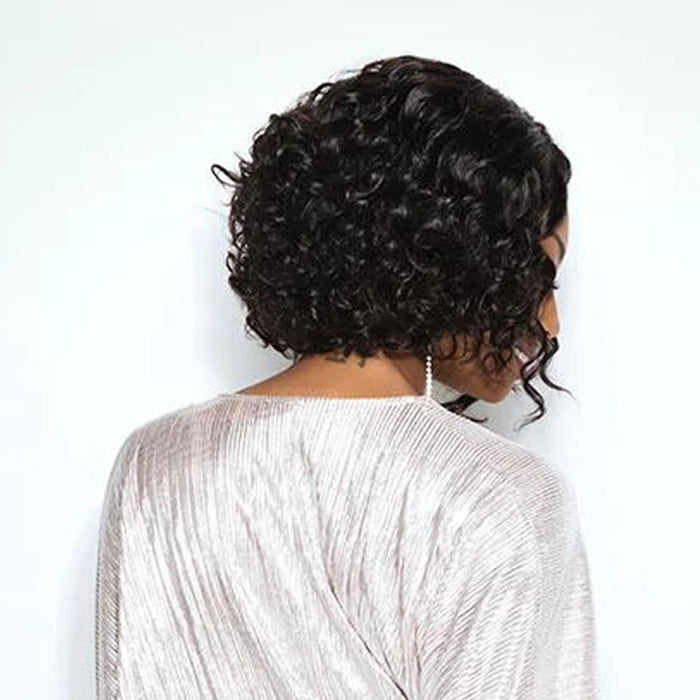 Luna 038 Curly Wig Cute Bob Style African Amrican Chin Length for Women