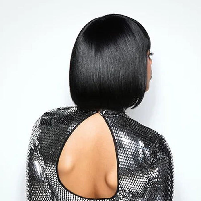Luna 008 Feminine Chin Length Bob Straight Wig with Full Bangs