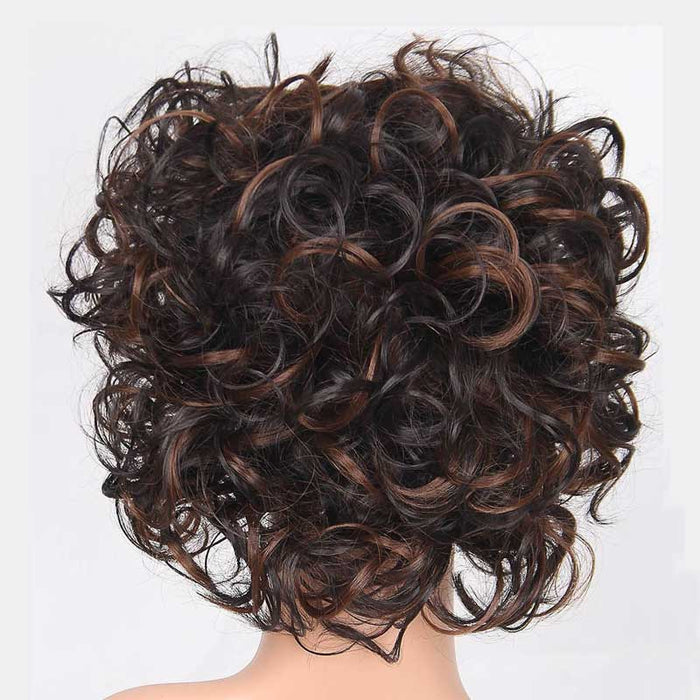 Luna Wig 101 Women Sensationnel Curly Layered Chin Length Soft Wig