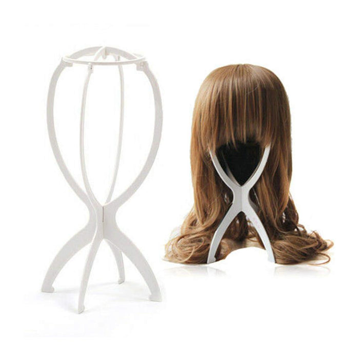 LUNA Durable Collapsible Plastic Wig Drying Stand