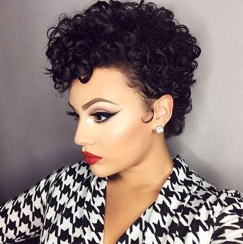Luna C12 Short Culry Wig Soft Lightweight for Black Women