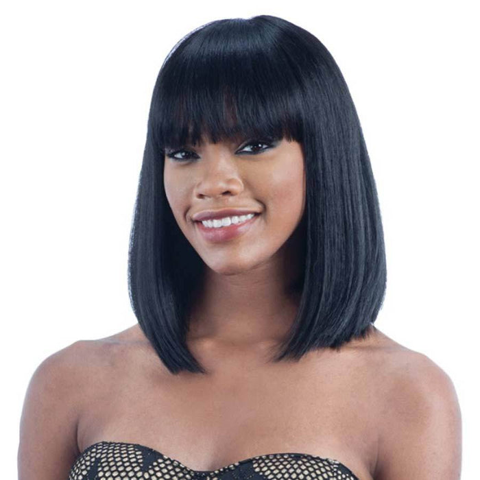 Luna 052 Shoulder Length Straight Bob Hair Afro Wig for Women