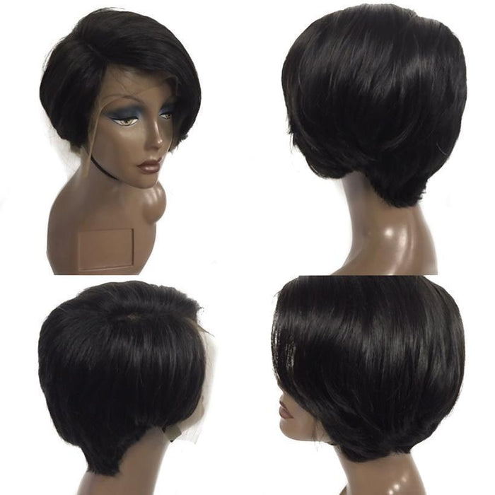 Luna A80 Feminine Afro Short Curly Wig with Bangs