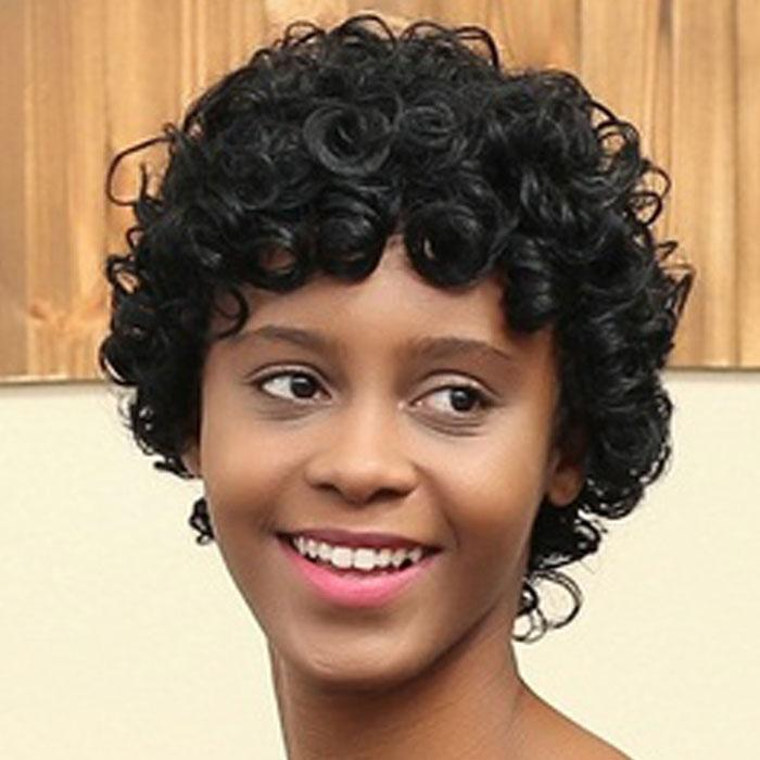 Luna 027 Gorgeous Short Curly Layered Wig for Black Women