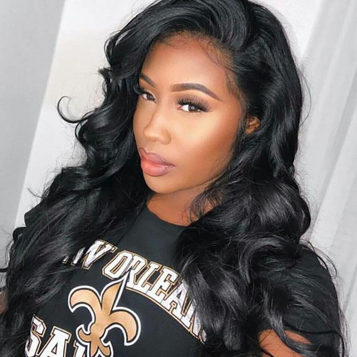 Luna A11 Deep Wave Long Hair Wig for African American