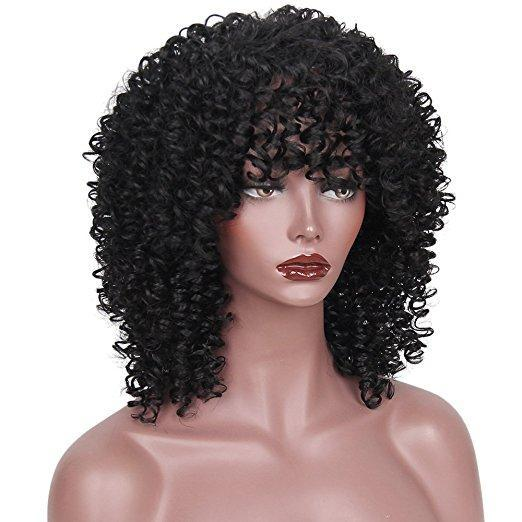 Luna A08 Spiral Culrly Shoulder Length Wig for Women