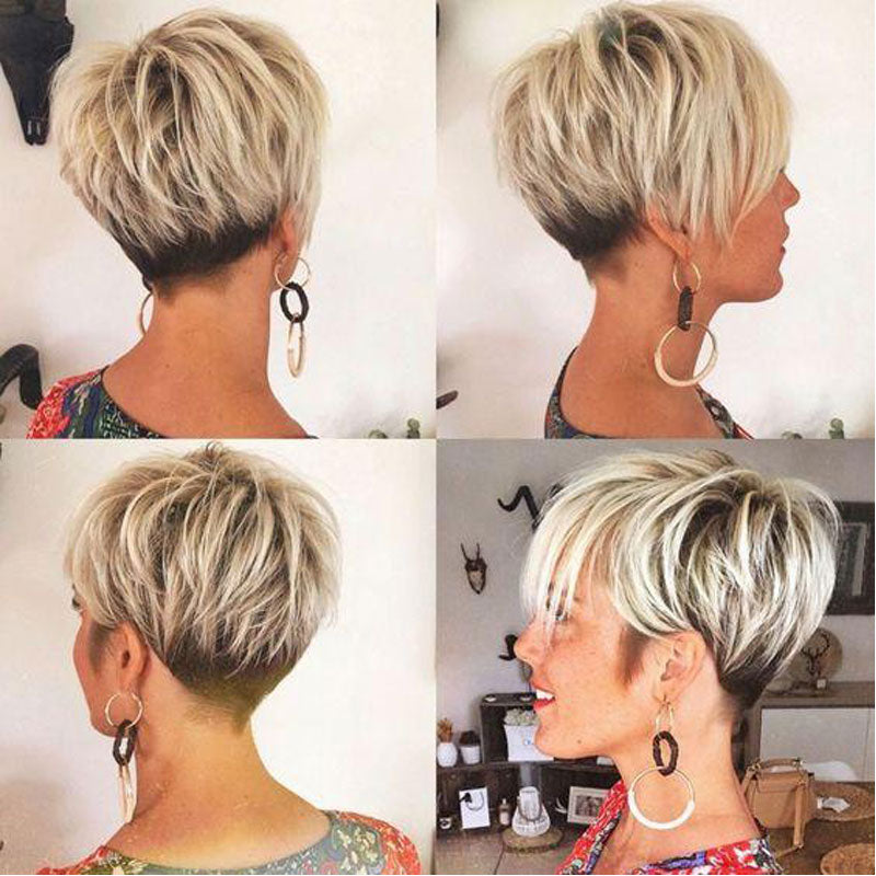 Luna C45 Layered Short Pixie Straight Wig for Black Women
