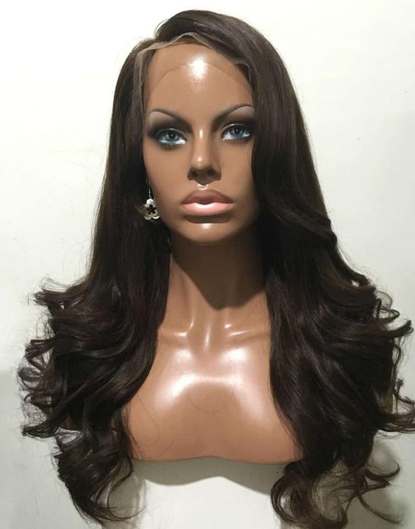 Luna S37 Lace Front Long Curly Layered Wig for African American