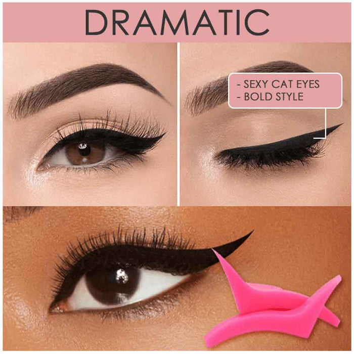 2 Pcs Silicon Winged Eyeliner Stamp for Eye Makeup