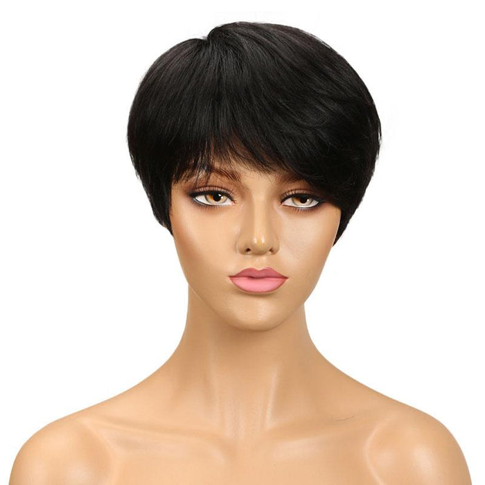 Luna C22 Women Black Wig Short Straight for African American