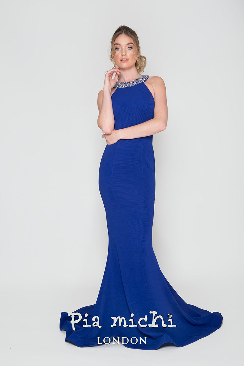 Pia Michi Royal Blue Evening Dress Style Style 1906
