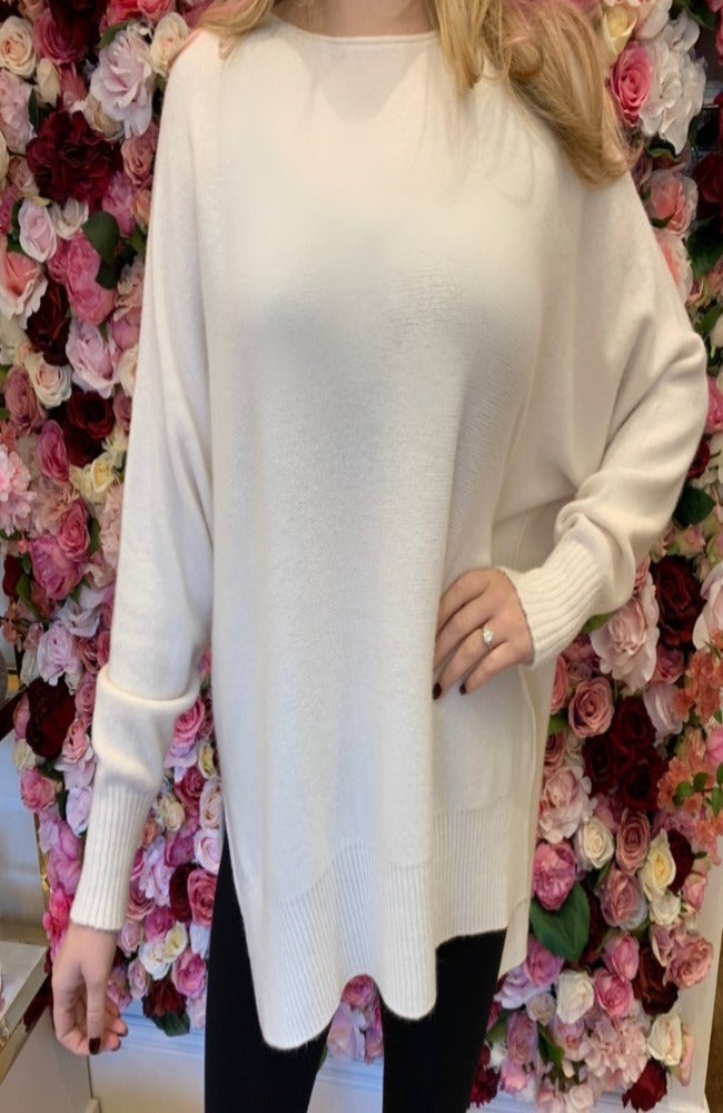 Erika Cream Boatneck Jumper