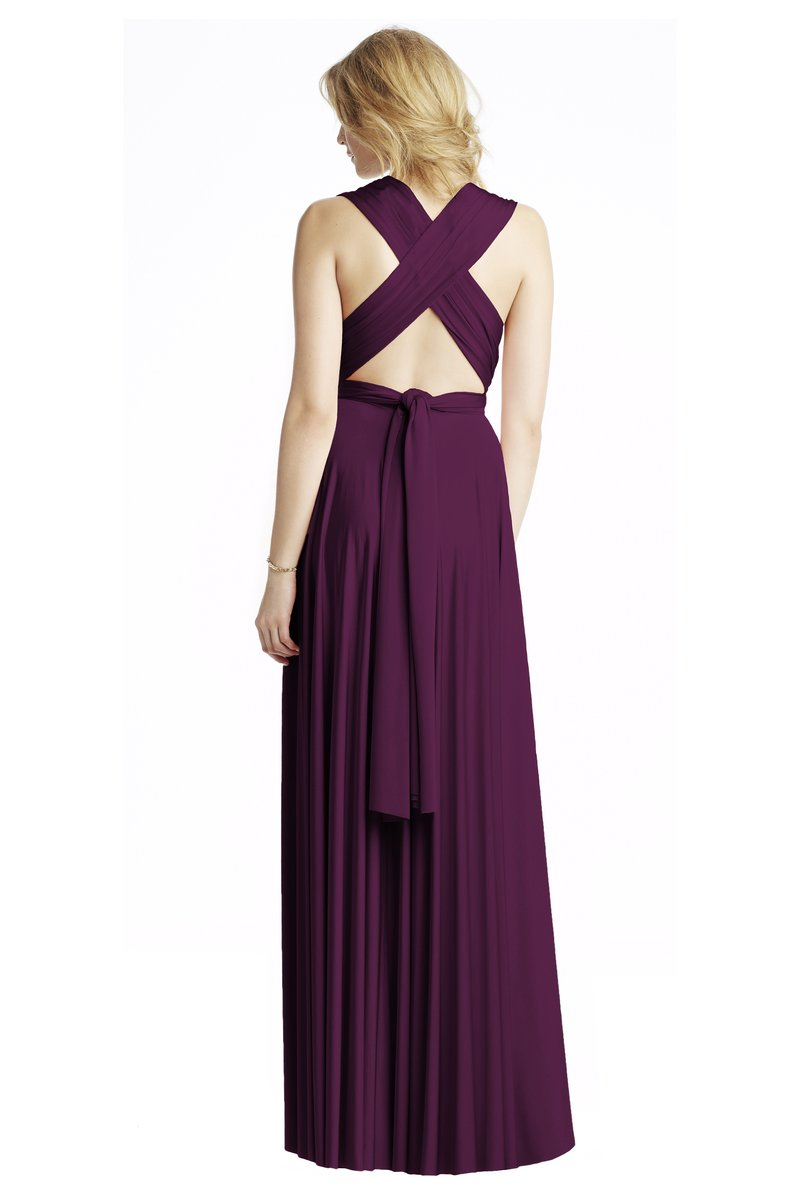 Two Birds Classic Gown - Aubergine