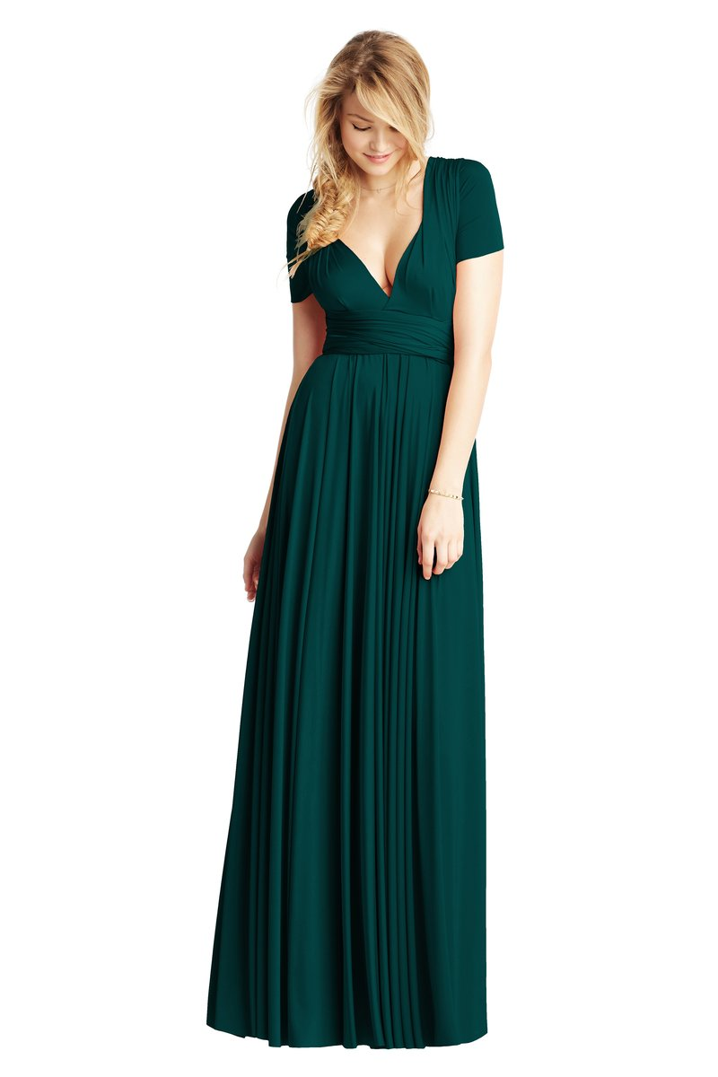 Two Birds Classic Gown - Emerald