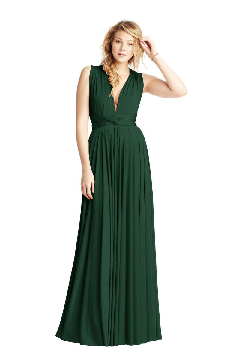 Two Birds Classic Gown - Forest Green