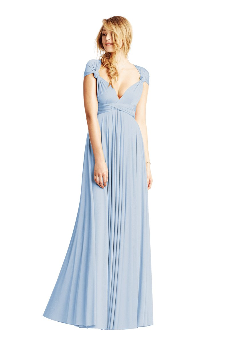 Two Birds Classic Gown - Light Blue