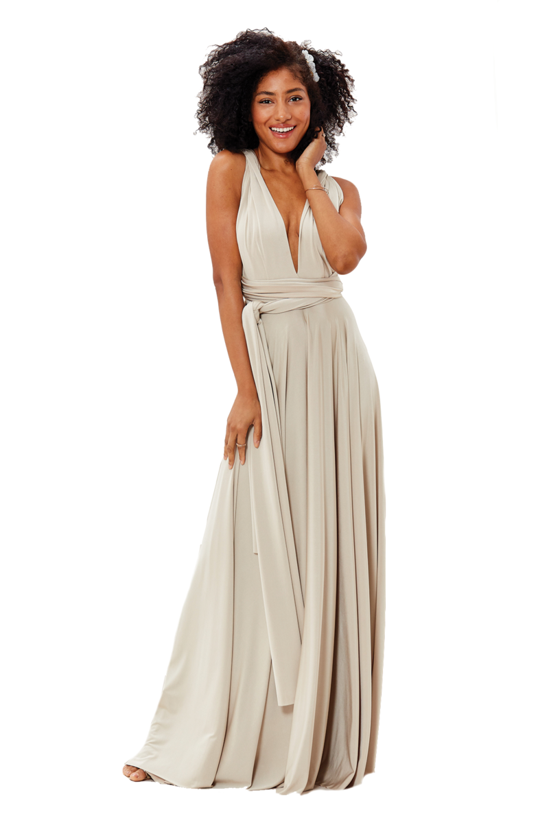 Two Birds Classic Gown - Oyster
