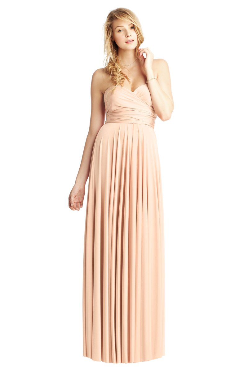 Two Birds Classic Gown - Peach