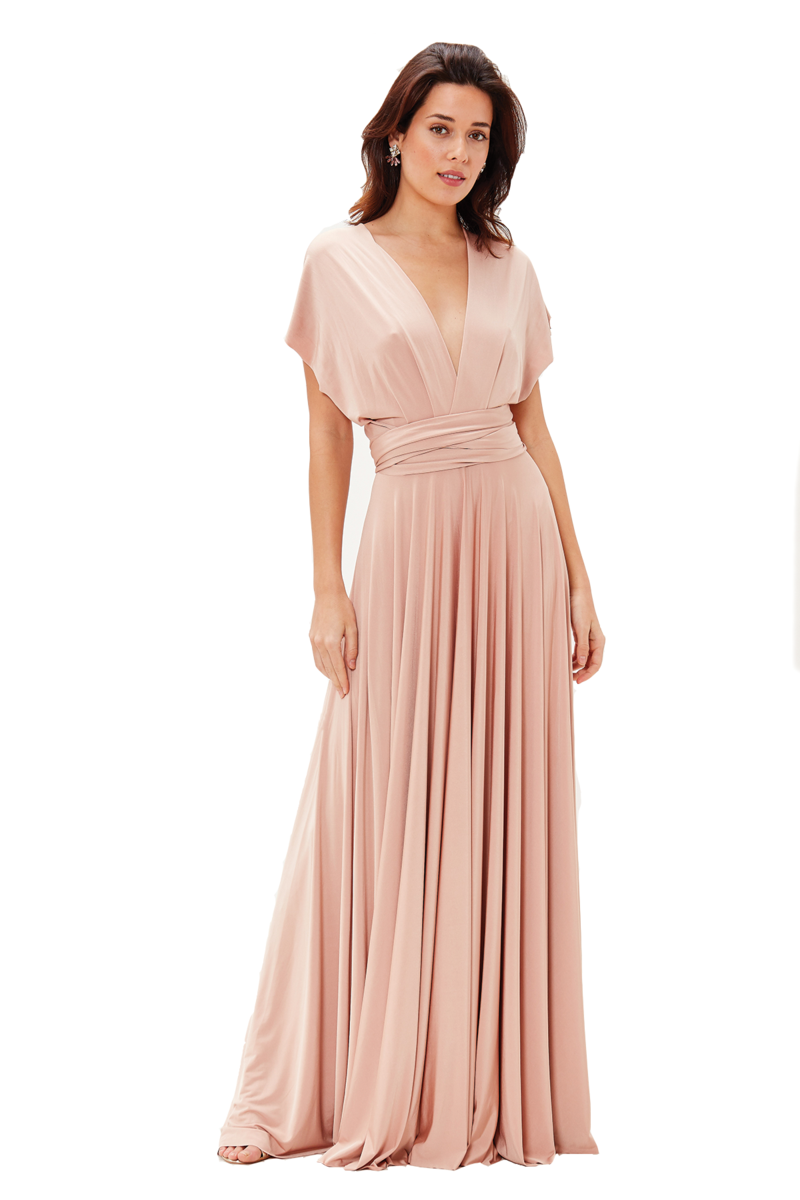Two Birds Classic Gown - Rosewood