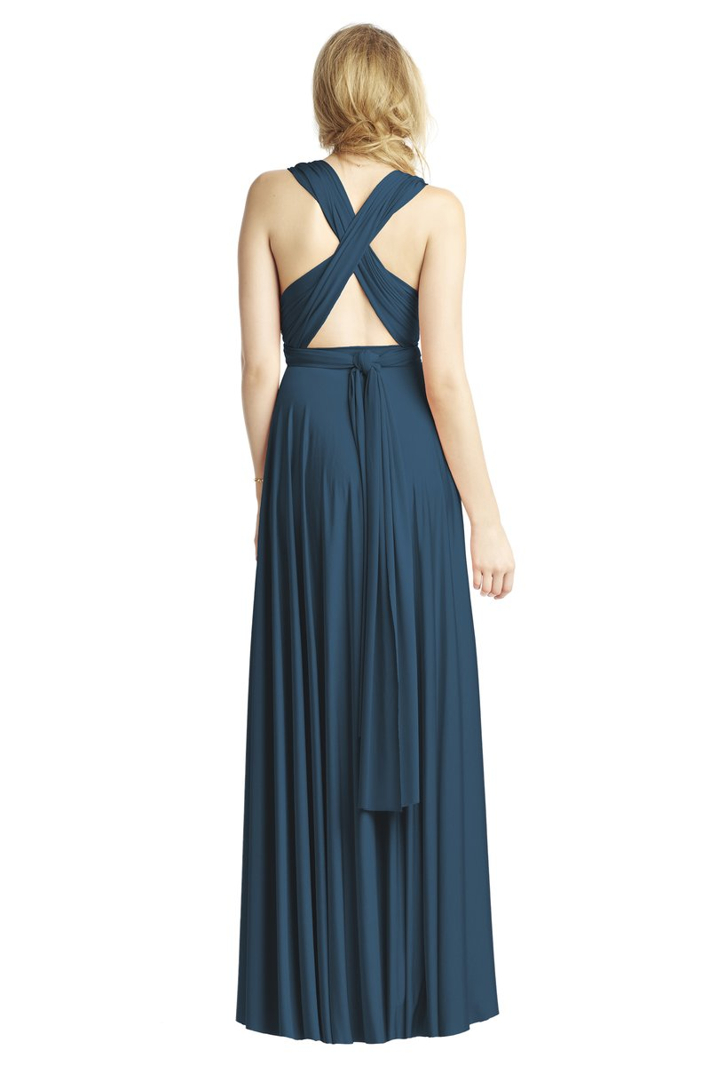 Two Birds Classic Gown - Sea Blue