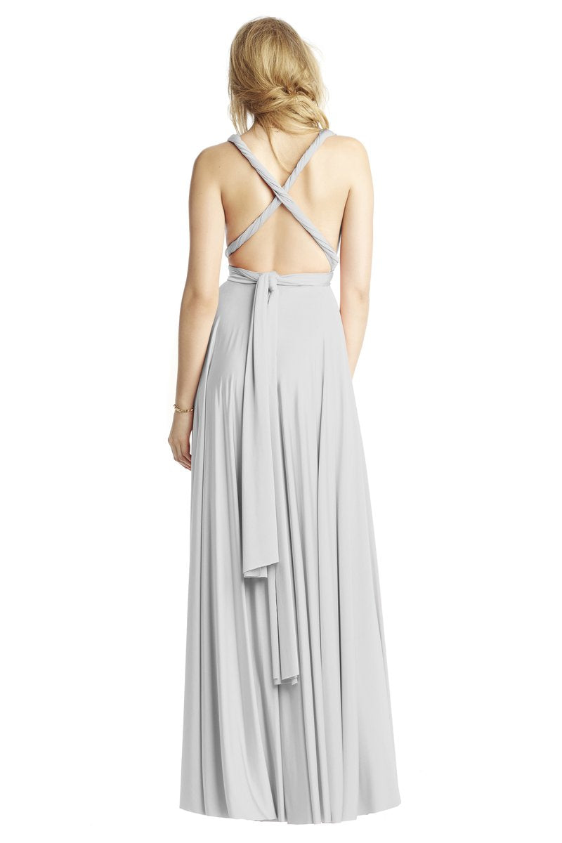 Two Birds Classic Gown - Silver