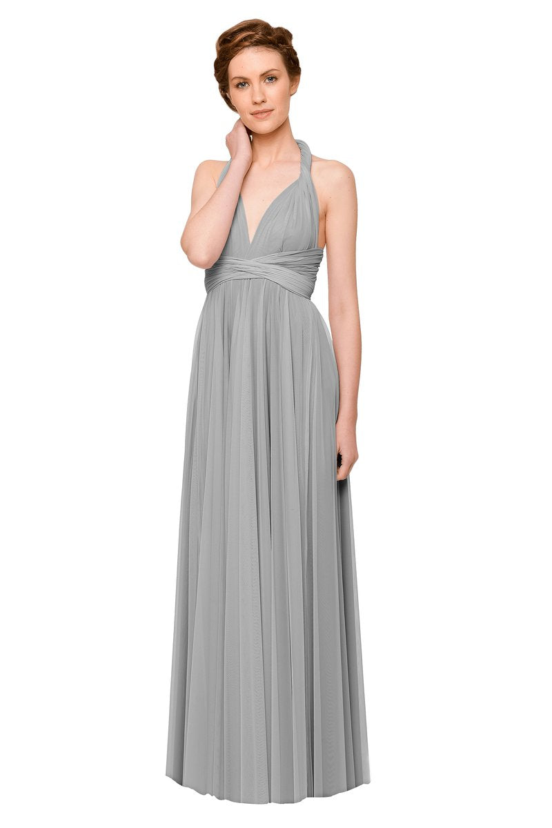 Two Birds Tulle Gown - Dove