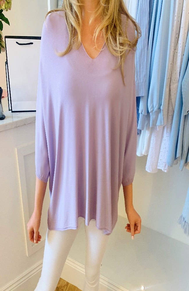 Erika Swing Lightweight Knit in Lilac