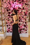 Jarlo Tilly Long Black Backless Evening Gown