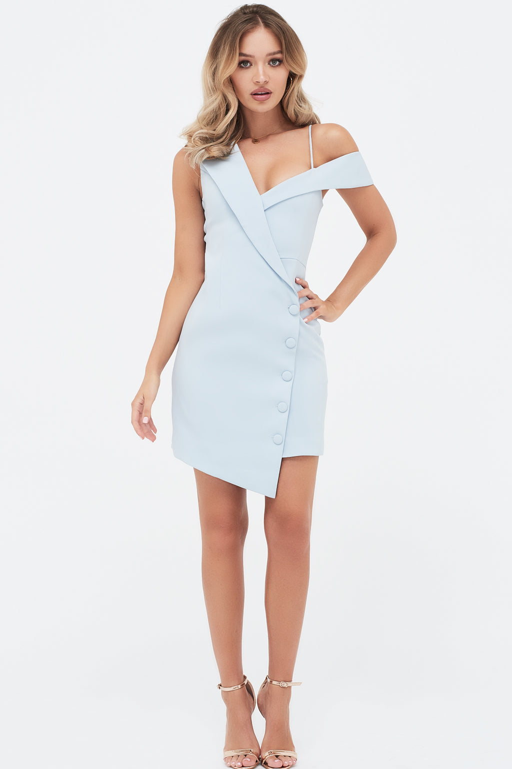 Lavish Alice Tailored Off The Shoulder Mini Dress