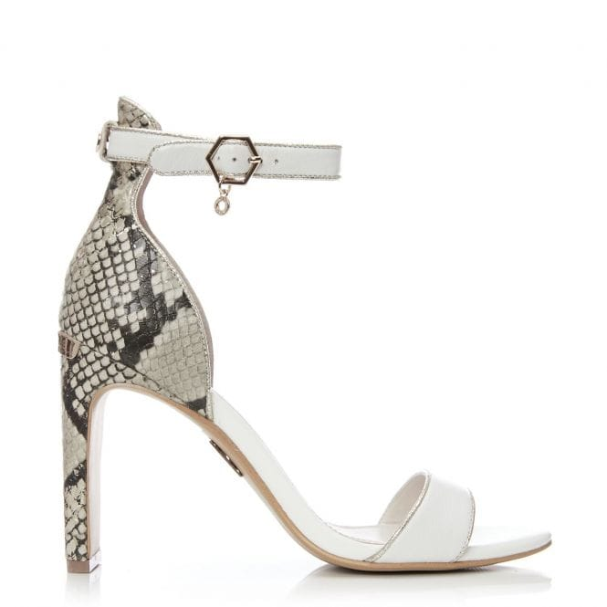 Moda in Pelle Maina White Gold Heel