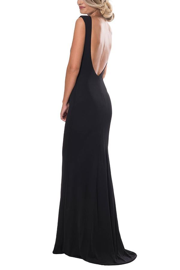 Nadine Merabi Dina Black Long Dress